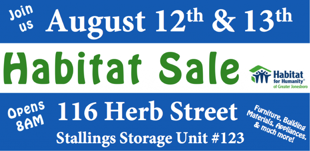 Habitat Sale FB
